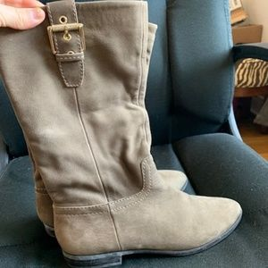 ALDO Taupe mid-calf Booties 7.5